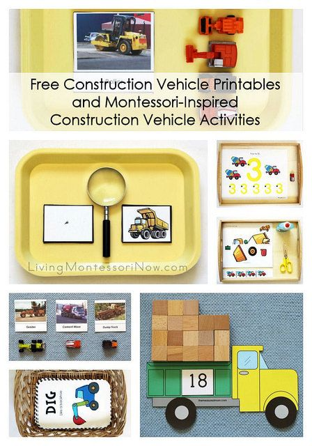 Free Construction Vehicle Printables and Montessori-Inspired Construction Vehicle Activities by Deb Chitwood, via Flickr