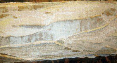 Trunk, 2008, Cross stitch