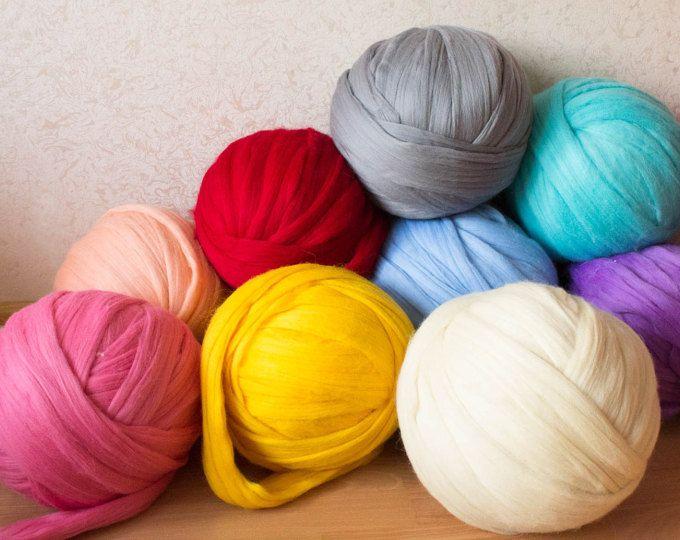 Brazo DIY para hacer punto de lana merino. puntada de 3 pulgadas. Hilado de lanas de merino Super grueso. Punto grueso, hilo de gigante,