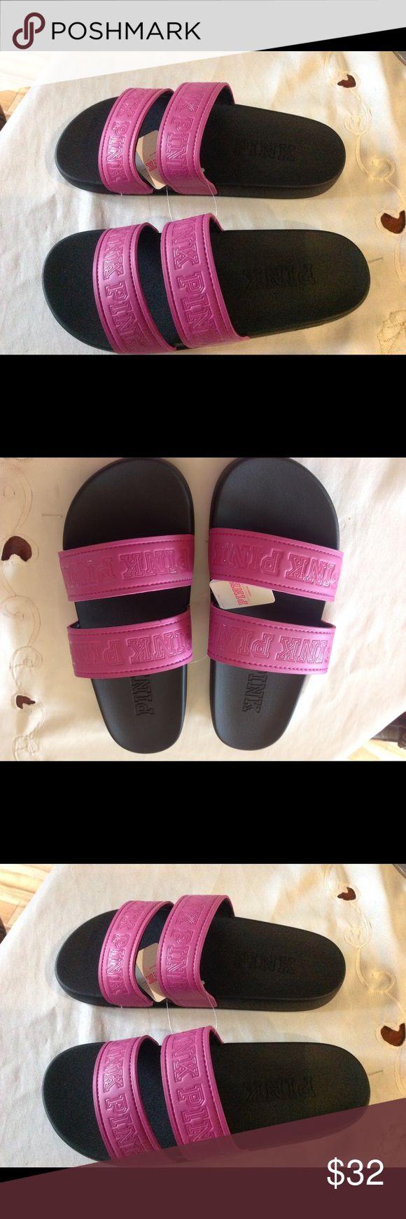 Sandals vs shoes - Nwt Vs Pink Flip Flop Slider Sandals Lg 9 10 Nwt Vs Pink Flip Flop