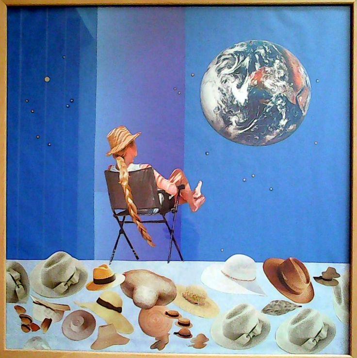 Poslední noc světa koláž 50 x 50 cm by Jana Černochová