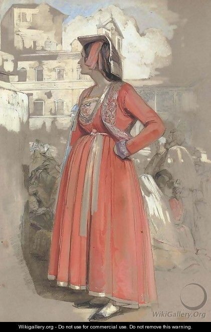 Study of a young Neapolitan woman, in Rome - John Frederick Lewis