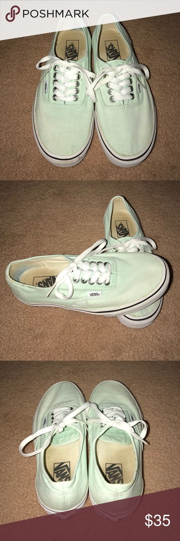 Mint Green Vans Worn a couple times and have been washed, but still in great condition. No damages. No trades please! Vans Shoes Sneakers