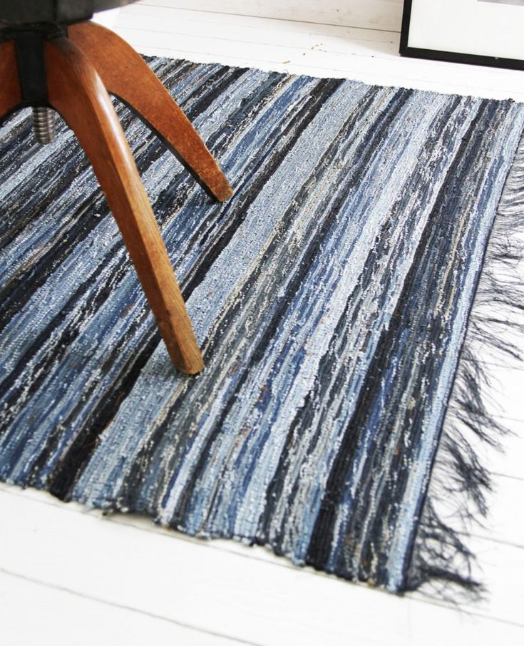 Repurposed Jeans: Recycled Denim Rug
