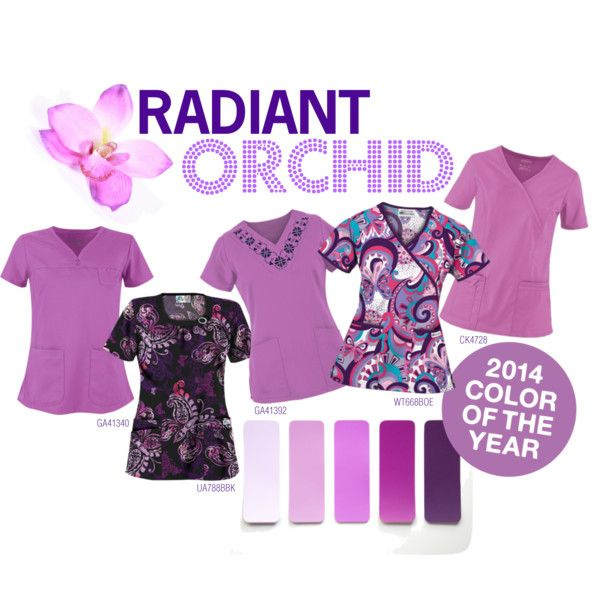 """Radiant Orchid - Color of 2014: Scrubs Edition"" by uascrubs on Polyvore"