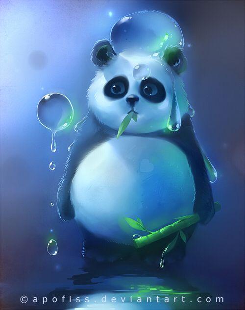Aqua Panda by *Apofiss on deviantART