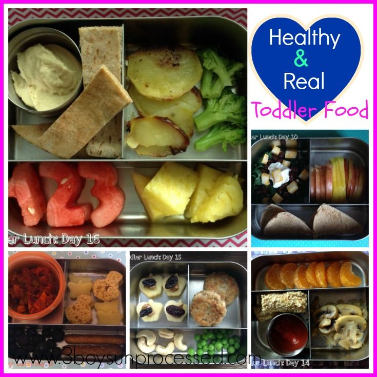 Toddler Lunch Roundup and other unprocessed meal ideas.