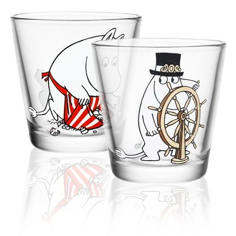 #Moomin my new favorite cocktail glasses
