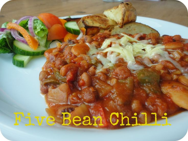 Slow Cooker Five Bean Chili