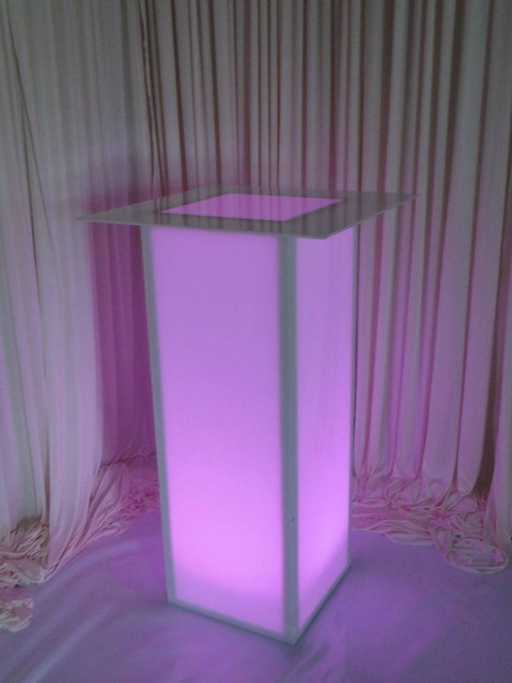 Acrylic Illuminated Light Up High Boy Table Www