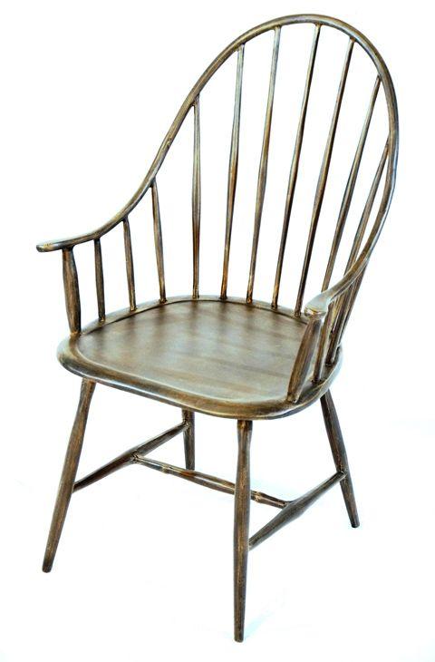 Nice Windsor Chair   Three Coins Cast Aluminum.