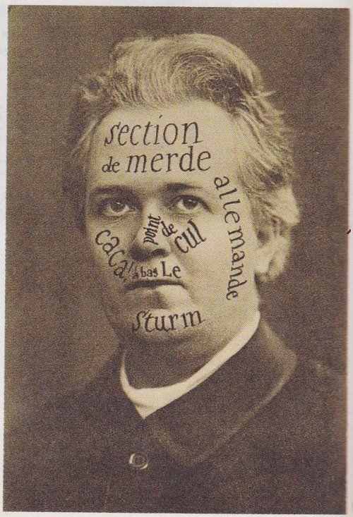 Raoul Hausmann, Carte postale à Tristan Tzara [postcard to Tristan Tzara], 3 mars (march) 1921, Berlinische Galerie, Landesmuseum für Moderne Kunst, Fotografie und Architektur, Berlin.
