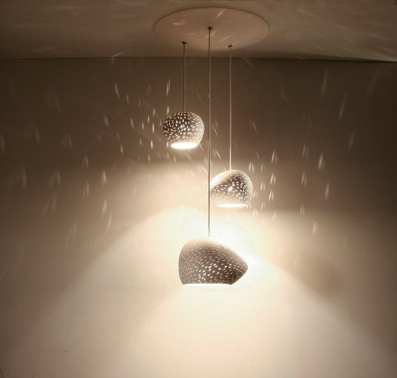 Clay Light Cluster Three Pendant Chandelier Ceiling Lighting