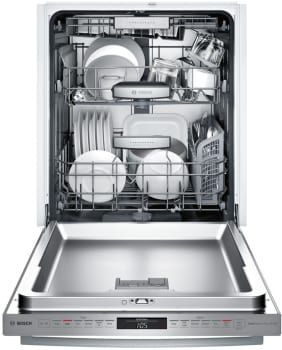 Bosch SHXM98W75N Fully Integrated Dishwasher with MyWay™ Third Rack, RackMatic®, EasyGlide™, InfoLight®, Extra Dry, NSF® Sanitize, 16 Place Setting Capacity, Silence Rating of 39 dBA, AquaStop® Leak Protection and ENERGY STAR®