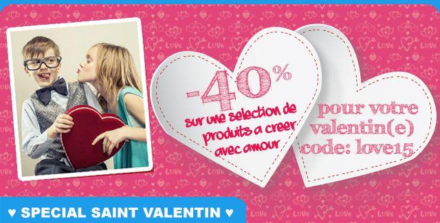 Avec le code love15 : profitez de 40% de réduction sur une sélection de produits plein d'amour ! Offre valable jusqu'au 10/02/2015, hors frais de port, non cumulable avec d'autres promos en cours.