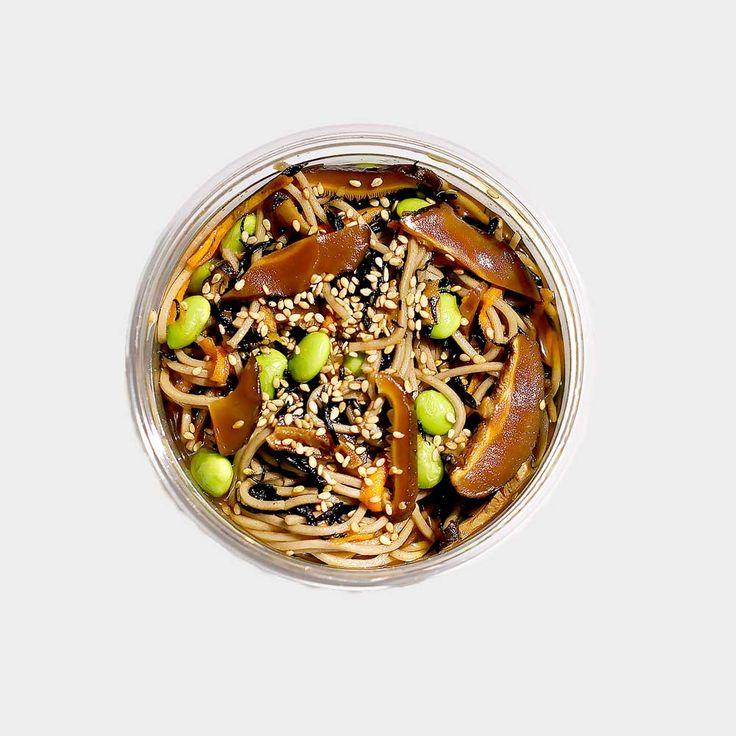 Soba Hijiki Salad  soba udon I shitake I hijiki I edamame I hon tsuyu dressing