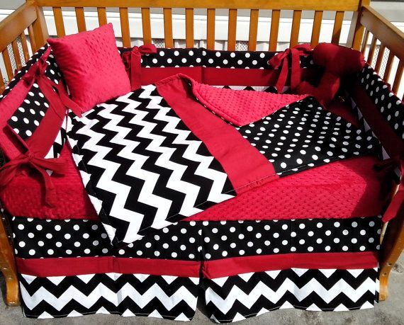 Hey, I found this really awesome Etsy listing at https://www.etsy.com/listing/181518073/custom-new-7-piece-polka-dot-and-chevron