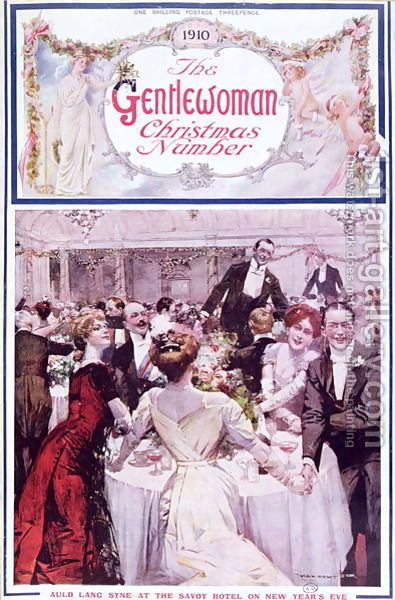 New Year's Eve at the Savoy Hotel, London, cover illustration for The Gentlewoman magazine, Christmas 1910 Max Cowper