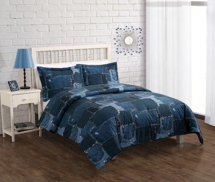 Bed Threads Jean Patch Comforter Set|Denim Look Teen ...
