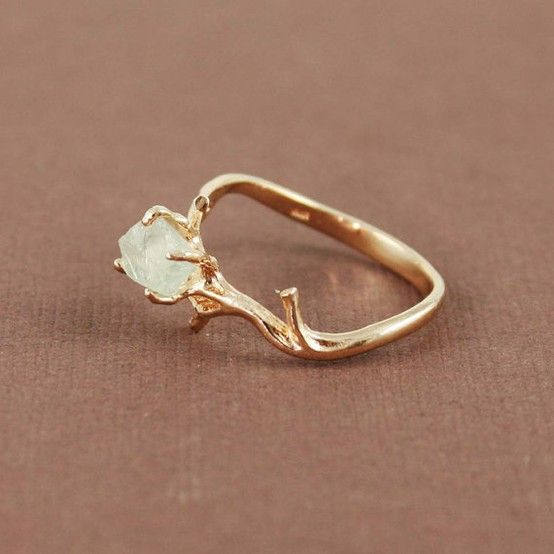 Love this boho ring... yellow gold-ish with moonstone (June - my - birthstone)... to balance out my left hand ;)