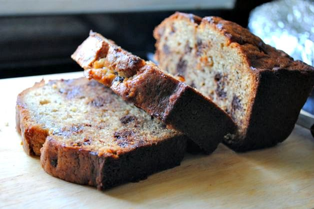 Crunchy Peanut Butter Chocolate Chip Banana Bread