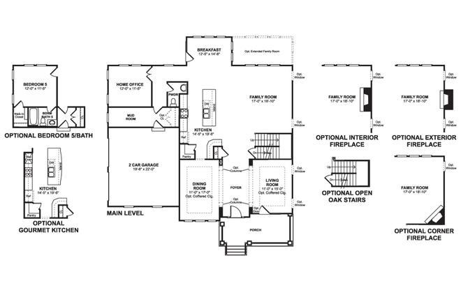 K Hovnanian Floor Plans: K. Hovnanian Chadwick Model