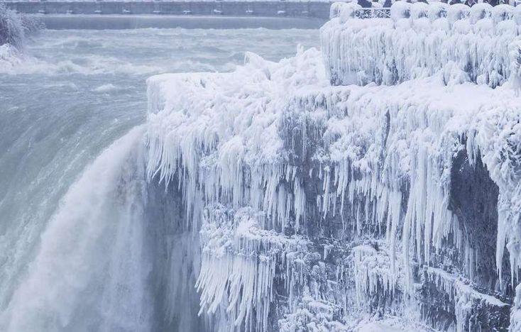 Niagara Falls has turned into an icy winter wonderland