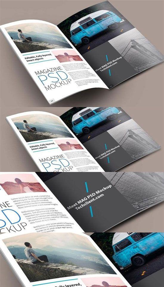 Meet Magazine PSD Mockup