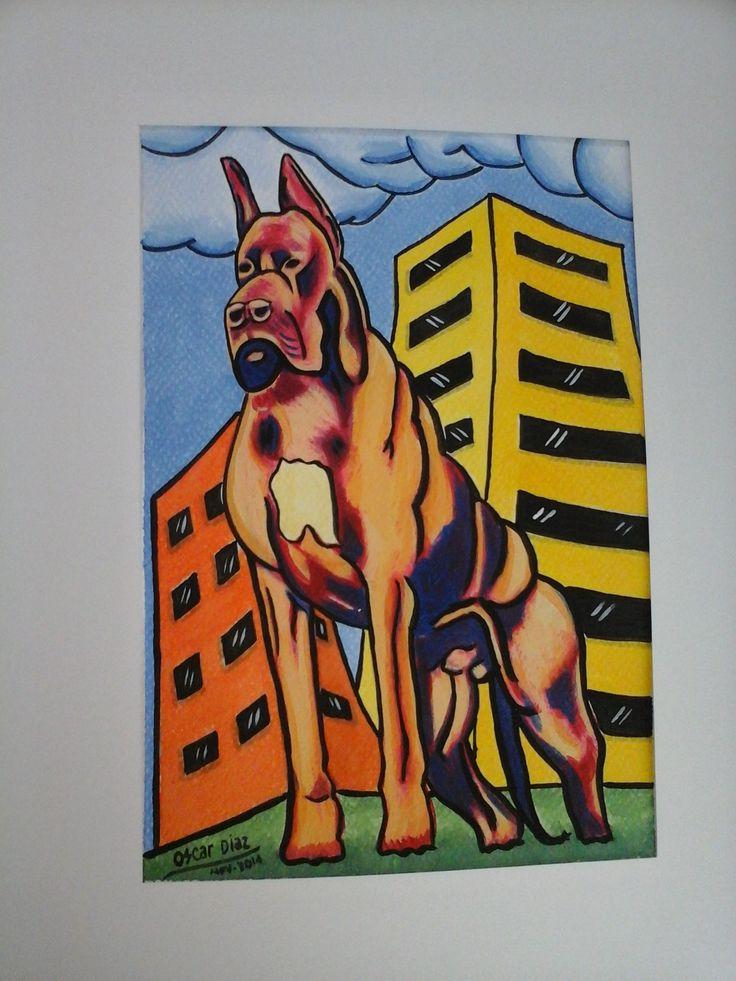 Gran Danes - arte pop - acrilico
