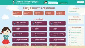 Trénování a procvičování úloh z českého jazyka pro děti na základních školách