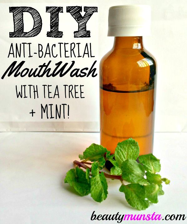 Keep your teeth and gums healthy with this antibacterial soothing mint & tea tree mouthwash recipe! This tea tree mouthwash recipe contains only natural ingredients and won't burn your mou