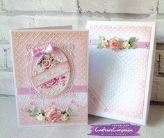Mothers day card with box made using Sara Signature Shabby Chic Collection – Designed by Laney Delaney #crafterscompanion