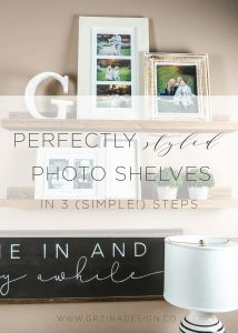Perfectly Styled Photo Shelves In 3 (Simple!) Steps