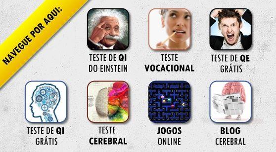 Faça agora seu teste de qi, teste de qe, teste vocacional, ou teste cerebral em www.testeqi.com.br