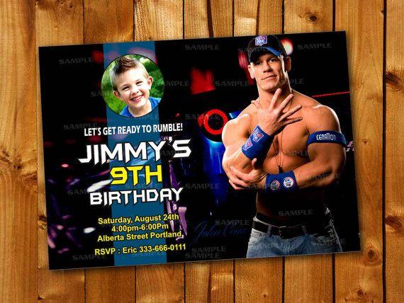248 best birthday invitation images – John Cena Birthday Card