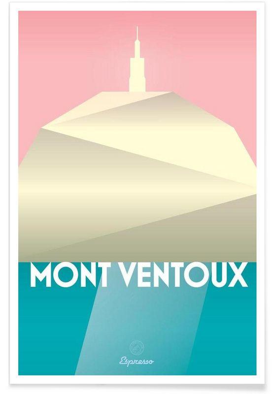 Mont Ventoux II en Affiche premium par Benjamin Andresen   JUNIQE