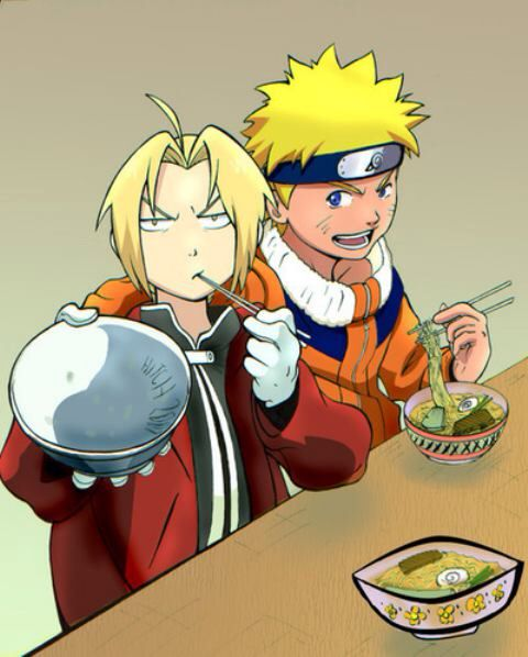 Fullmetal Alchemist and Fullmetal Alchemist: Brotherhood's Edward Elric and NARUTO and NARUTO: SHIPPUDEN's Naruto Uzumaki, my two joint #1 favourite anime series