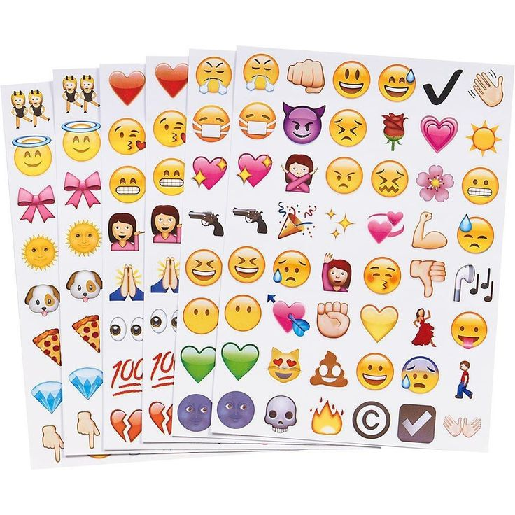 [Visit to Buy] 4PC Fun Cute Lovely Emoji Sticker 192 Die Cut Emoji Smile Face Vinyl Sticker for iPhone Laptop Tablet Decor Twitter Instagram #Advertisement
