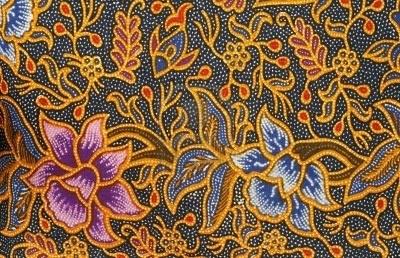 Malaysian Batik design Stock Photo