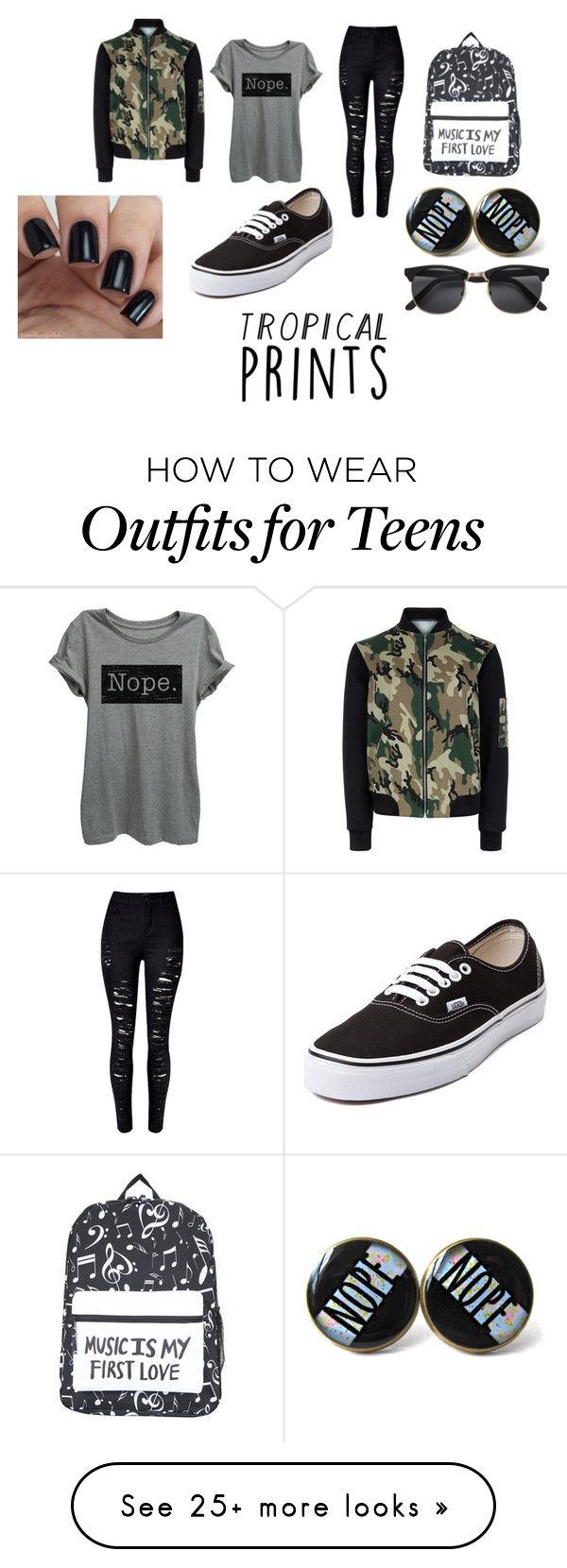 """#101"" by tanya-rumyantsewa on Polyvore featuring WithChic, Vans and New Look"