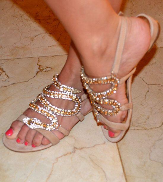 sandalias de strass de FETICHE SUANCES...