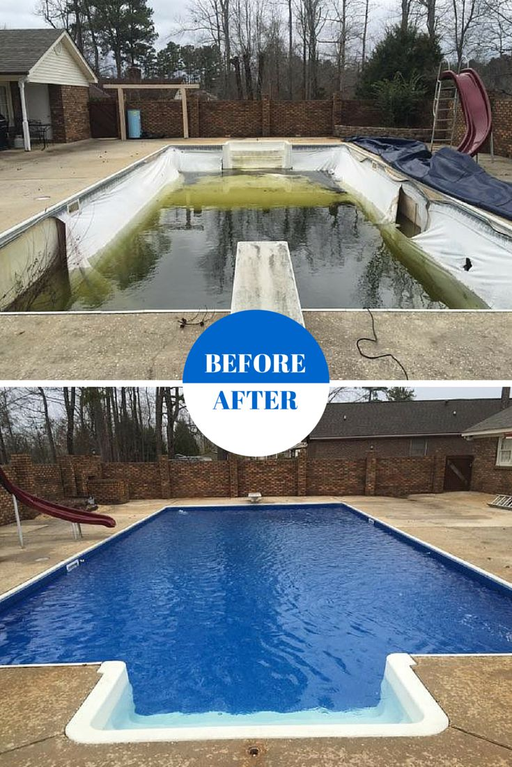 11 best pool makeovers images on pinterest pools for Backyard makeover with pool