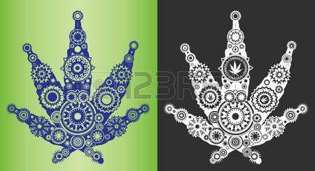 marijuana: cannabis marijuana decorative leaf symbol