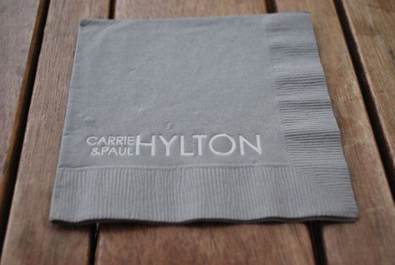Personalized Paper Cocktail Napkins Modern by NoteablyUnique, $114.00