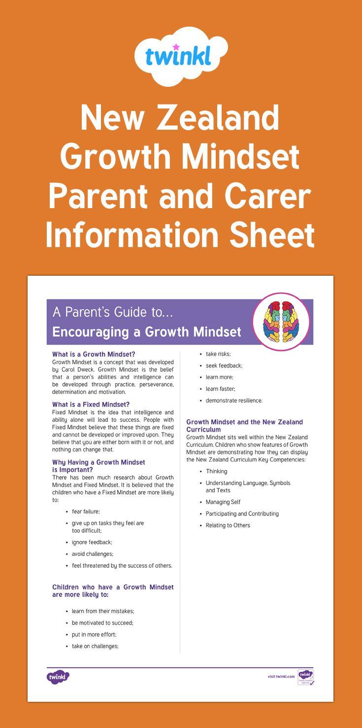 Growth Mindset information