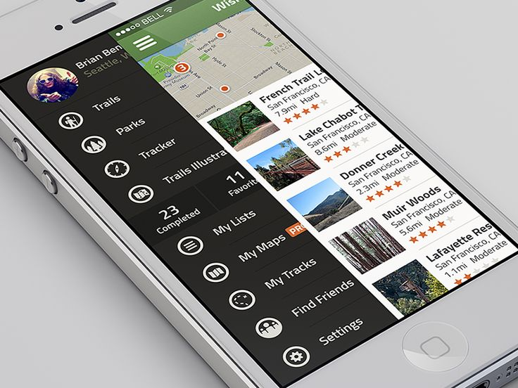 Explore/Menu - iOS7 UI by Brian Benitez for Collective Ray