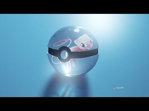 How To Make a Fantasy Glass Pokeball In Photoshop - YouTube