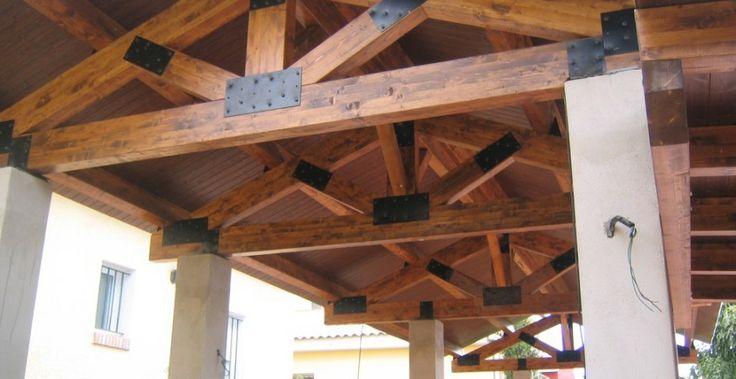 12 best p rgolas porches y cenadores images on pinterest arbors front porches and front yards - Pergolas de madera valencia ...