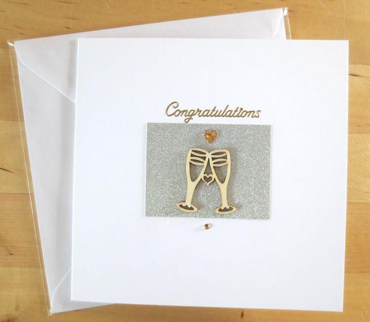 Congratulations card,  Wedding congratulations card, Wedding card, Wedding congratulation, greeting card  handmade by FyneHandmadeCards on Etsy