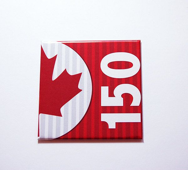 Canada 150th, Canada Maple Leaf Magnet, Magnet, Maple Leaf, Fridge magnet, Canada Day, Red, White, Canada's 150th birthday (7144) by KellysMagnets on Etsy
